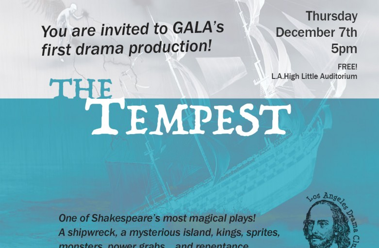 """The Tempest"" at GALA – one performance only!!"